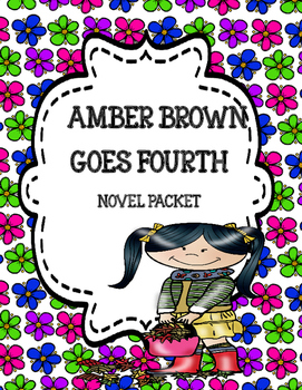 Amber Brown Goes Fourth Novel Study