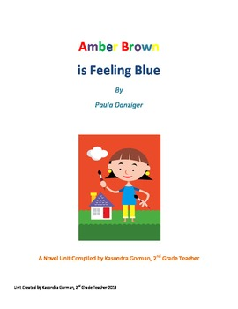 Amber Brown Is Feeling Blue 2nd Grade Book Study (Novel Unit)