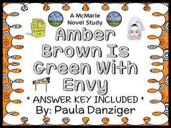 Amber Brown Is Green With Envy (Paula Danziger) Novel Study / Comprehension