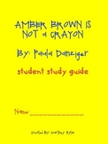Amber Brown Is Not a Crayon Study Guide and Supplemental Activities