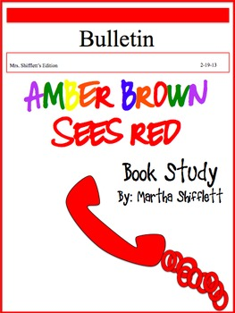 Amber Brown Sees Red Book Study