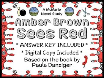 Amber Brown Sees Red (Paula Danziger) Novel Study / Reading Comprehension
