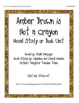 Amber Brown in Not a Crayon- Novel Study, Ch. Q.s, Quiz, and Activities
