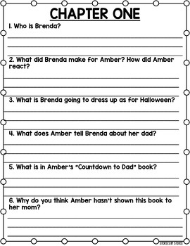 Amber Brown is Feeling Blue Book Questions and Quiz