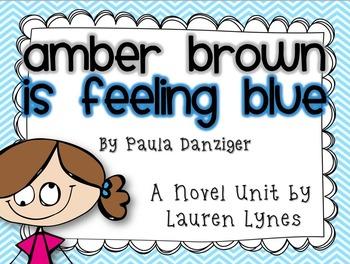 Amber Brown is Feeling Blue Novel Unit