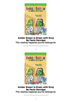 Amber Brown is Green with Envy Workbook