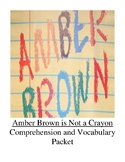 Amber Brown is Not a Crayon Guided Reading Unit Level N