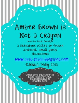 Amber Brown is Not a Crayon - Small Group Literature Packet