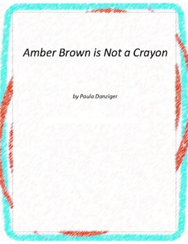 Amber Brown is not a Crayon Novel Unit with Literary and G
