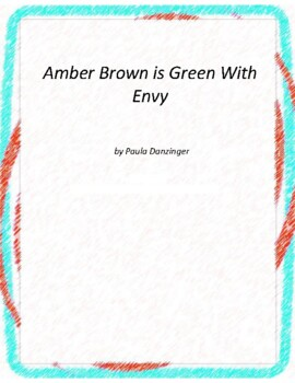 Amber Brown is Green With Envy Literature and Grammar Unit