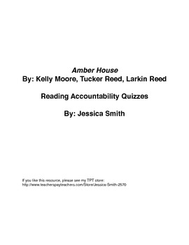 Amber House: Reading Accountability Quizzes