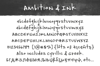 Ambition & Ink Font for Commercial Use