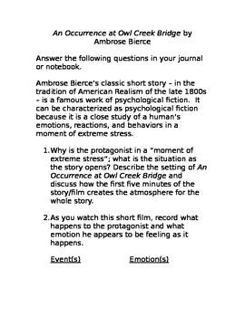 "Ambrose Bierce: ""An Occurrence at Owl Creek Bridge"" Questions"