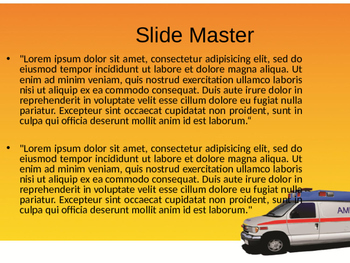 Ambulance PowerPoint Template by Templates Vision   TpT
