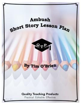 Lesson: Ambush by Tim O'Brien Lesson Plan, Worksheets, Key, Powerpoints