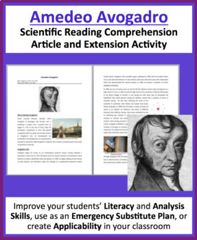 Amedeo Avogadro - A Famous Scientist Reading