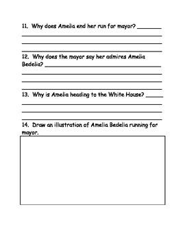 Amelia Bedelia 4 Mayor comprehension Questions