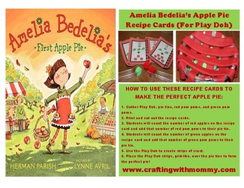 Amelia Bedelia Apple Pie Recipe Cards (For Play Doh)