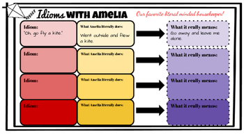 Amelia Bedelia Author Study: Idioms and literature skills pack