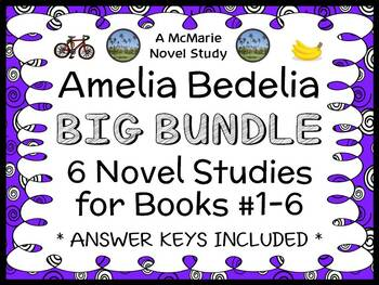 Amelia Bedelia BIG BUNDLE (Herman Parish) 6 Novel Studies : Books #1-6