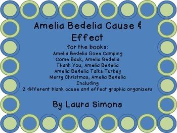 Amelia Bedelia Cause & Effect by Laura Simons | Teachers Pay Teachers