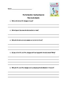 Amelia Bedelia Comprehension Questions