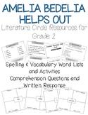 Amelia Bedelia Helps Out Book Club– Word List, Comprehensi