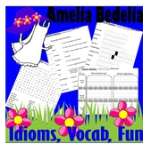 Amelia Bedelia : Idioms Vocabulary & FUN Reading Packet * LINED PAPER