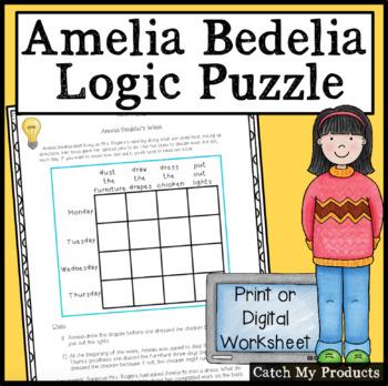 Logic Puzzle : Amelia Bedelia