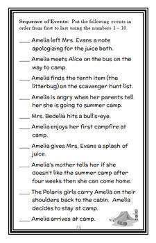 Amelia Bedelia Makes a Splash (Herman Parish) Novel Study (28 pages)