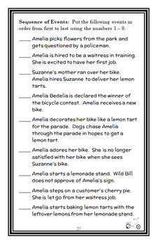 Amelia Bedelia Means Business (Herman Parish) Novel Study / Comprehension