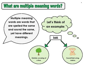 Amelia Bedelia Multiple Meaning Words Speech and Language Therapy