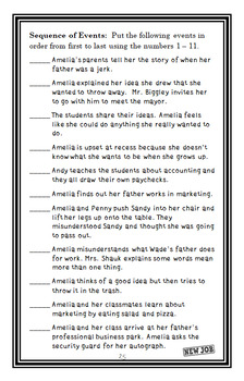 Amelia Bedelia On the Job (Herman Parish) Novel Study / Comprehension (29 pages)