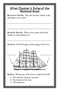 Amelia Bedelia Sets Sail (Herman Parish) Novel Study / Reading Comprehension