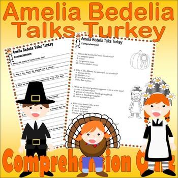 Amelia Bedelia Talks Turkey : Comprehension & Multiple Choice Questions