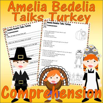 Amelia Bedelia Talks Turkey Thanksgiving : Comprehension & Multiple Choice