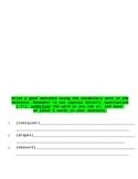 Amelia Bedelia Vocabulary Hunt