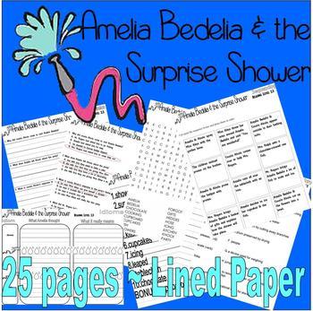 Amelia Bedelia & the Surprise Shower Book Companion Reading Comprehension Idioms
