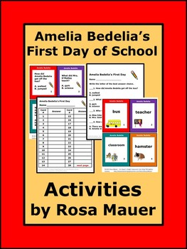 Amelia Bedelia's First Day of School Literacy Packet