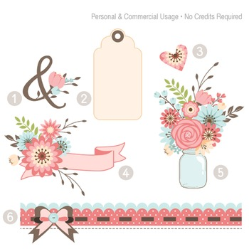 Amelia Clip Art and Paper Collection - C00001