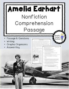 Amelia Earhart Nonfiction Passage
