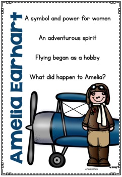 Amelia Earhart - Biography and Informational Report Pack
