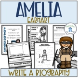 Amelia Earhart Activities to write a Biography