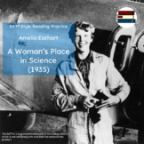 Amelia Earhart: A Woman's Place in Science | SAT Style Rea