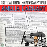 Amelia Earhart Comprehension Passages & Critical Thinking Activity