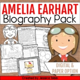 Amelia Earhart Biography Pack - Digital Biography Activity in Google Slides