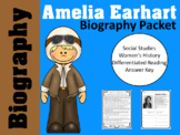 Amelia Earhart Biography Packet - Women's History Packet