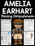 Pilot Amelia Earhart Biography Reading Comprehension Worksheet