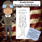 Amelia Earhart Biography Trifold Brochure