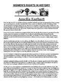 Amelia Earhart Biography and Creative Writing Assignment